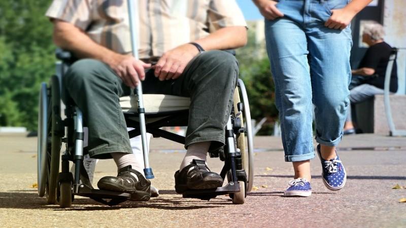 A man on the wheelchair